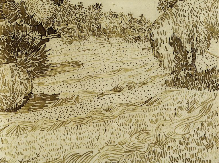 A Corner of a Garden in Place Lamartine - by Vincent van Gogh