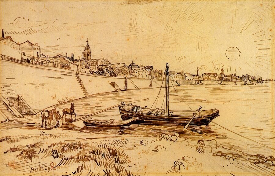 Bank of the Rhone - by Vincent van Gogh