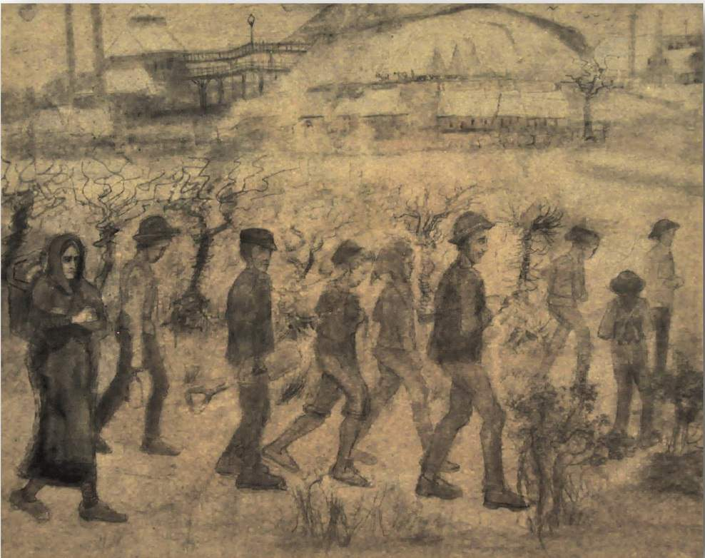 Miners in the Snow - by Vincent van Gogh