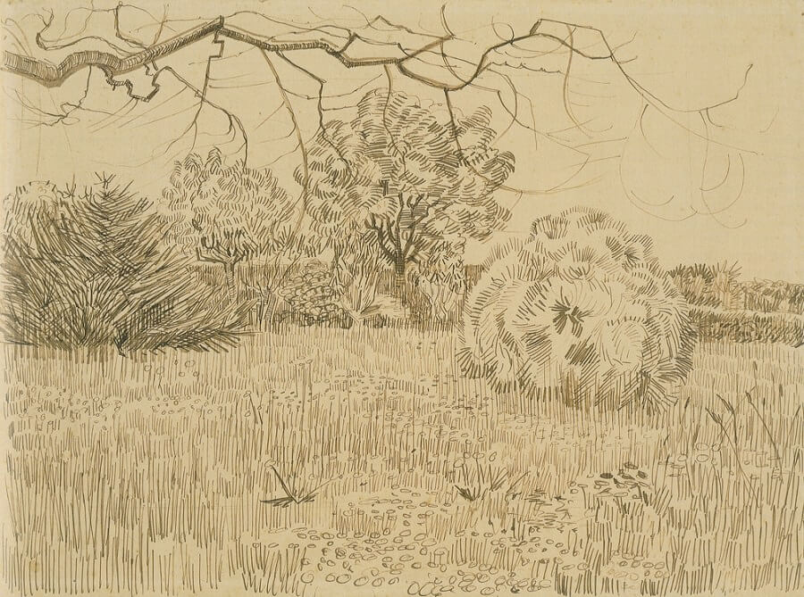 Park on Place Lamartine - by Vincent van Gogh