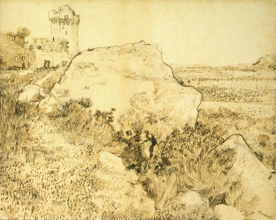 Ruine of the Abbey of Montmajour - by Vincent van Gogh
