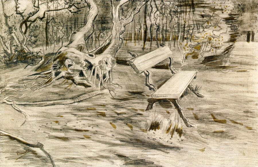 The Bench at Saint Remy - by Vincent van Gogh