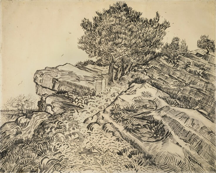 The Rock of Montmajour - by Vincent van Gogh