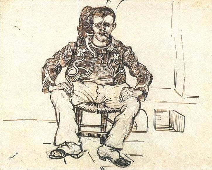 The Zouave Seated - by Vincent van Gogh