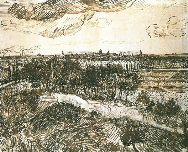 View of Arles from Montmajour - by Vincent van Gogh