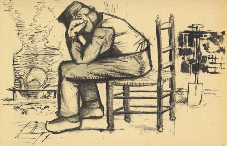 Worn Out - by Vincent van Gogh. Obra proveniente de Study for 'Worn Out'