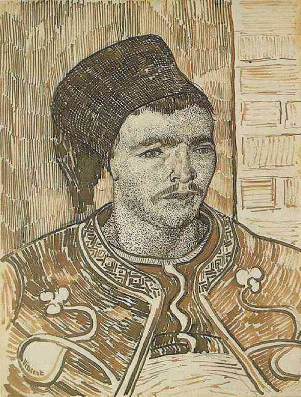Zouave Half Figure - by Vincent van Gogh