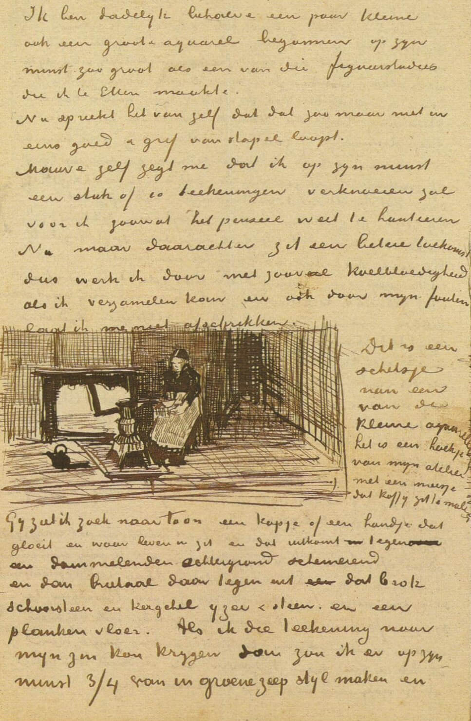 Letter 01/12/1882 - by Vincent van Gogh