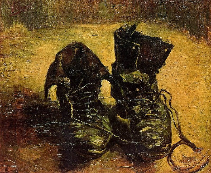 a pair of chaussures van gogh