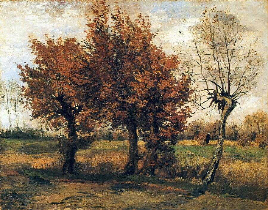 Autumn Landscape with Four Trees, 1885 by Van Gogh