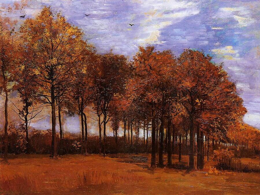Autumn Landscape, 1885 by Vincent Van Gogh