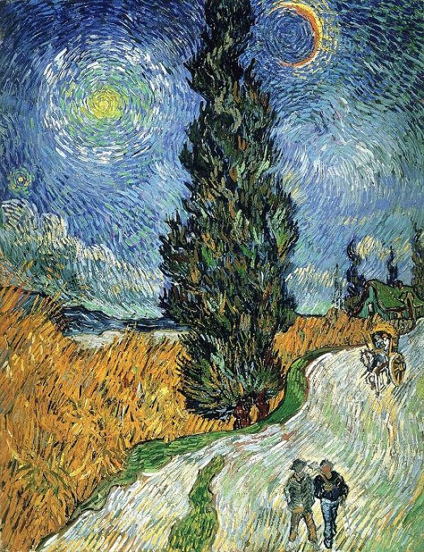 Road with Cypress and Star, 1890 by Vincent Van Gogh