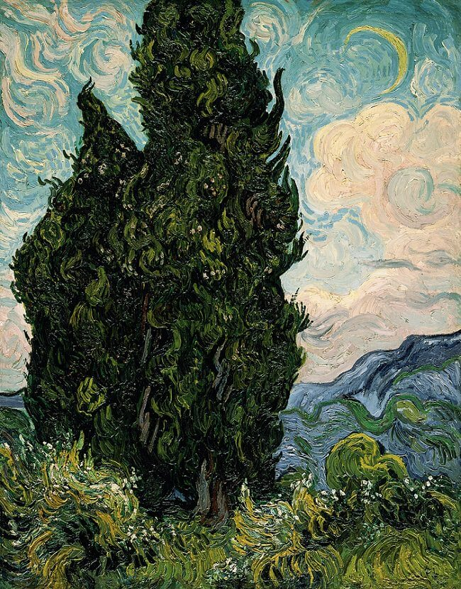 Cypresses - by Vincent van Gogh