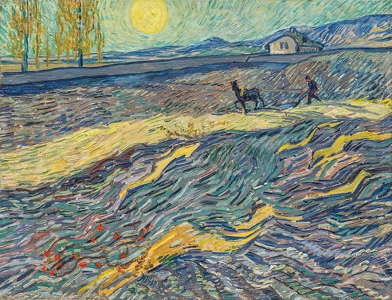 Enclosed Field with Ploughman, 1889, by Vincent Van Gogh