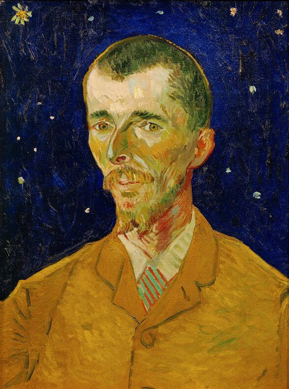 Vincent van Gogh - Portrait of Eugene Boch 1888 with ...