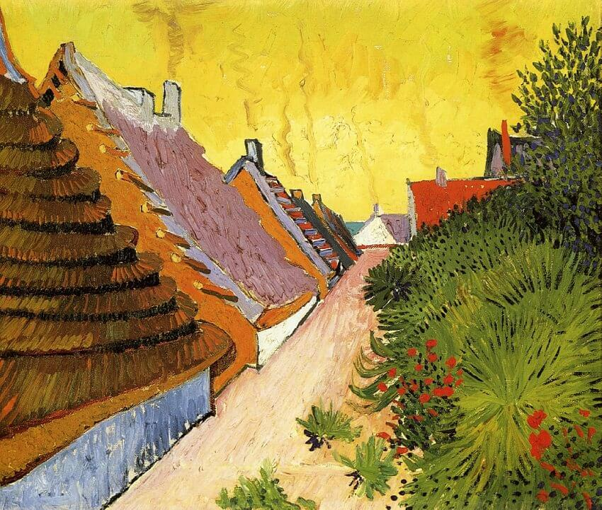 Farmhouses in Saintes Maries, 1888 by Vincent Van Gogh