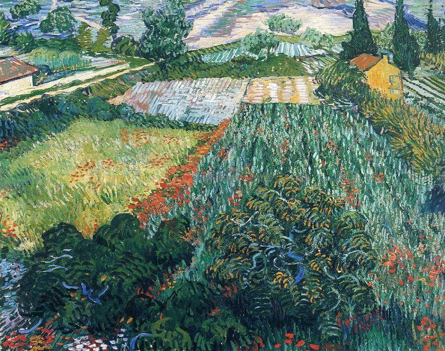 Field With Poppies 1889 By Vincent Van Gogh