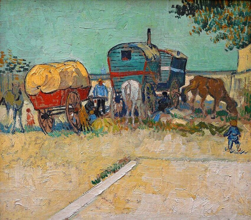Gypsy Camp near Arles, 1888 by Vincent Van Gogh