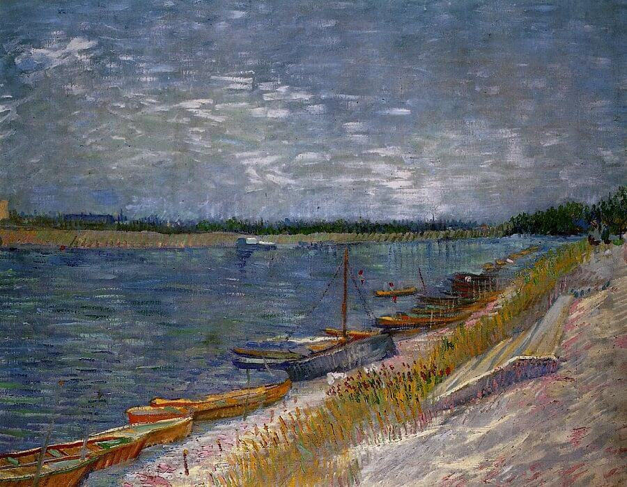 Moored Boats, 1887 by Vincent Van Gogh