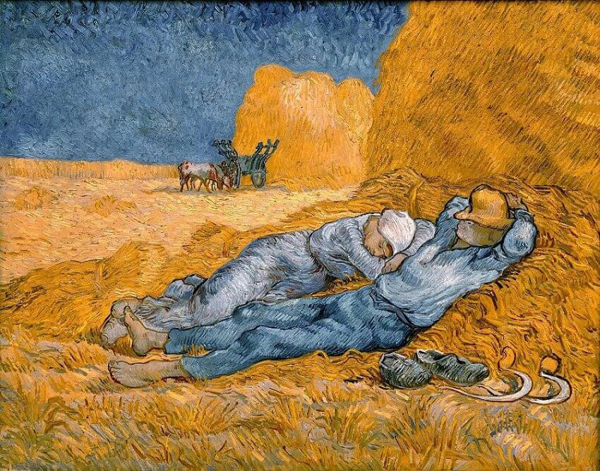 Noon - Rest from Work (after Millet), 1890 by Vincent Van Gogh