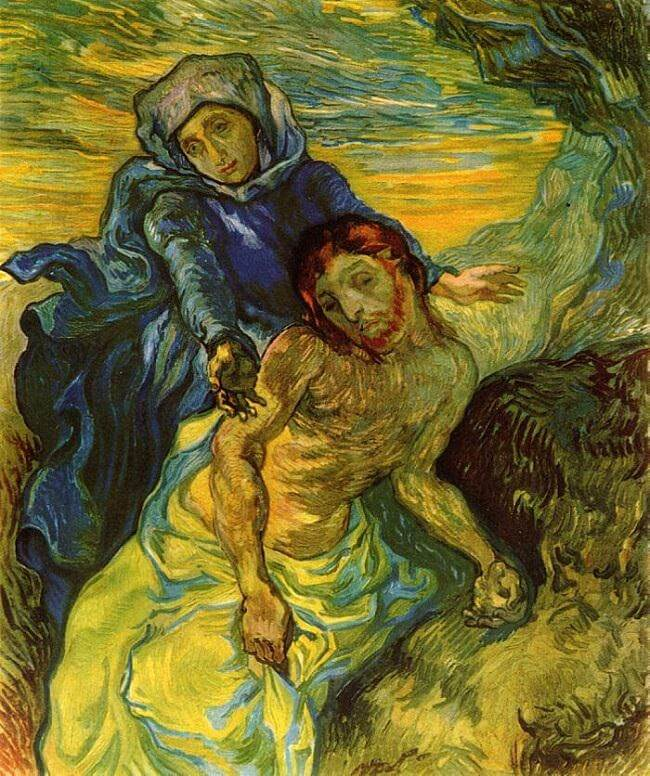 Pieta (after Delacroix), 1889 by Vincent Van Gogh