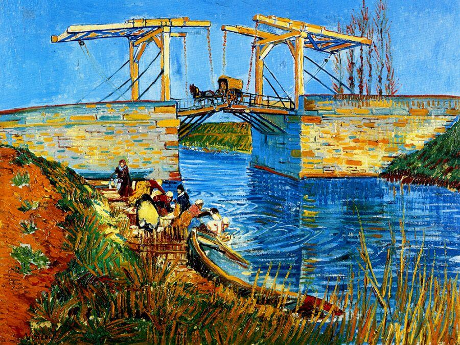 The Langlois Bridge, 1888 by Vincent Van Gogh
