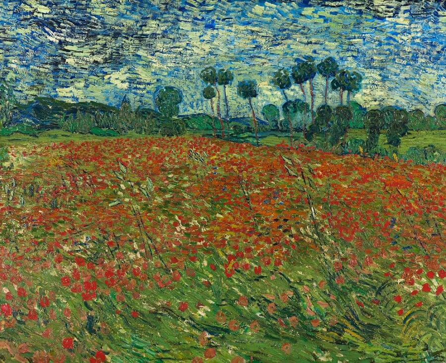 Poppy field 1890 by vincent van gogh mightylinksfo
