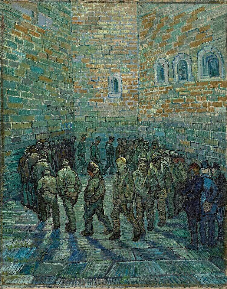 Prisoners Exercising, 1890 by Vincent Van Gogh