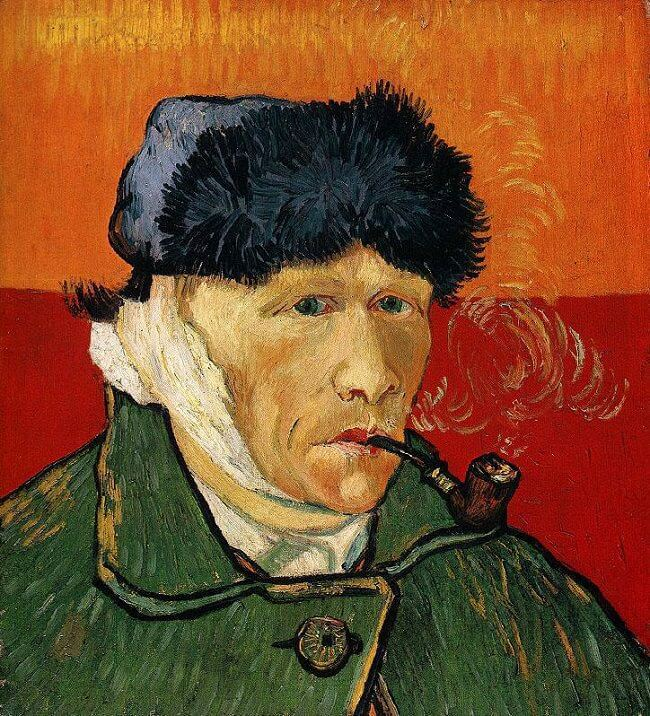 Self-Portrait with Bandaged Ear and Pipe, 1889 by Vincent Van Gogh