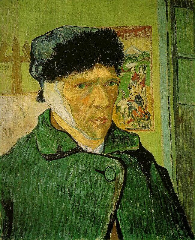 Self Portrait with Bandaged Ear, 1889 by Vincent Van Gogh