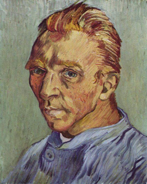 Self Portrait without Beard, 1889 by Vincent Van Gogh