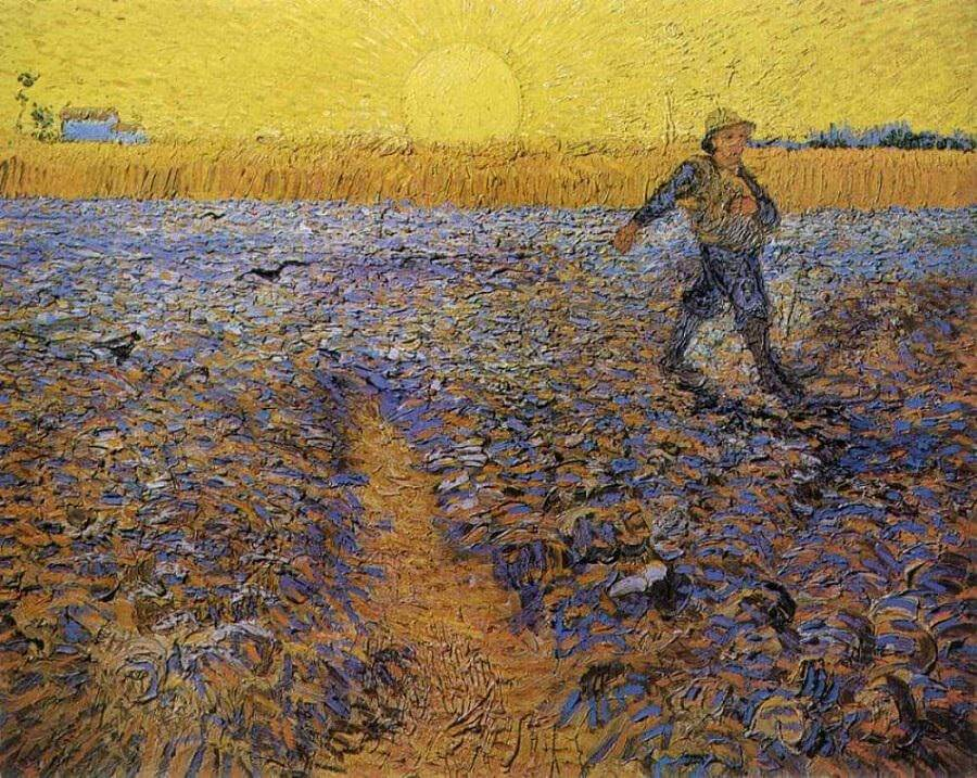 Sower at Sunset, 1888 by Vincent Van Gogh
