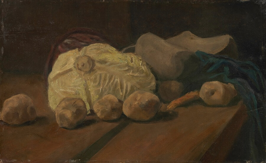 Still Life with Cabbage and Clogs, 1881 by Vincent Van Gogh