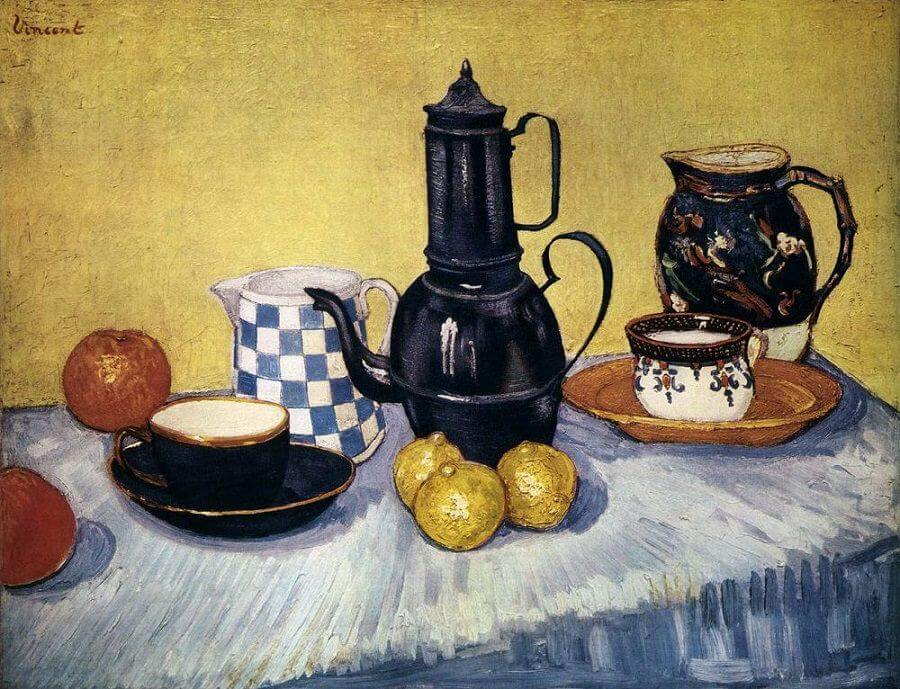 Still Life with Coffee Pot, 1888 by Vincent Van Gogh