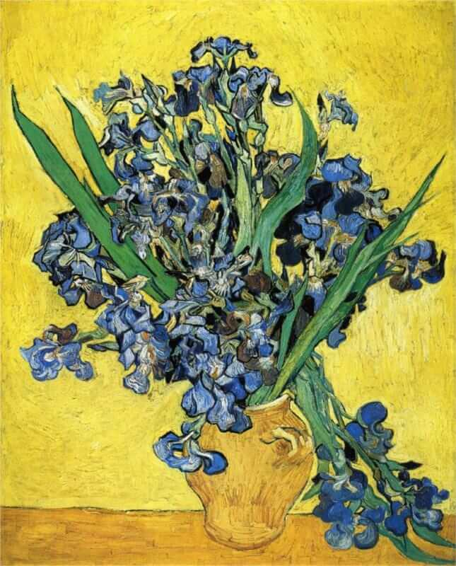 Still life with Irises, 1890 by Vincent Van Gogh