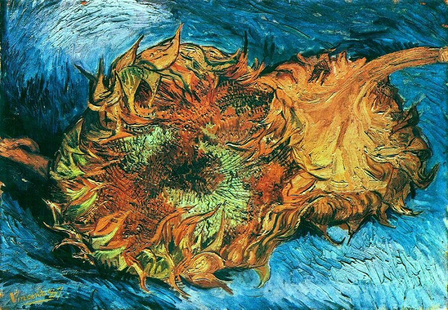 Still Life with Two Sunflowers, 1887 in MOMA