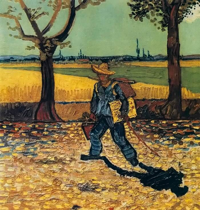 The Artist on the Road to Tarascon, 1888 by Vincent Van Gogh
