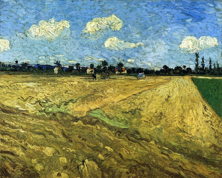 The Ploughed Field, 1888 by Van Gogh