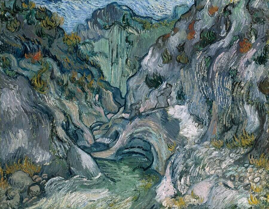 The Ravine, 1889 by Vincent Van Gogh