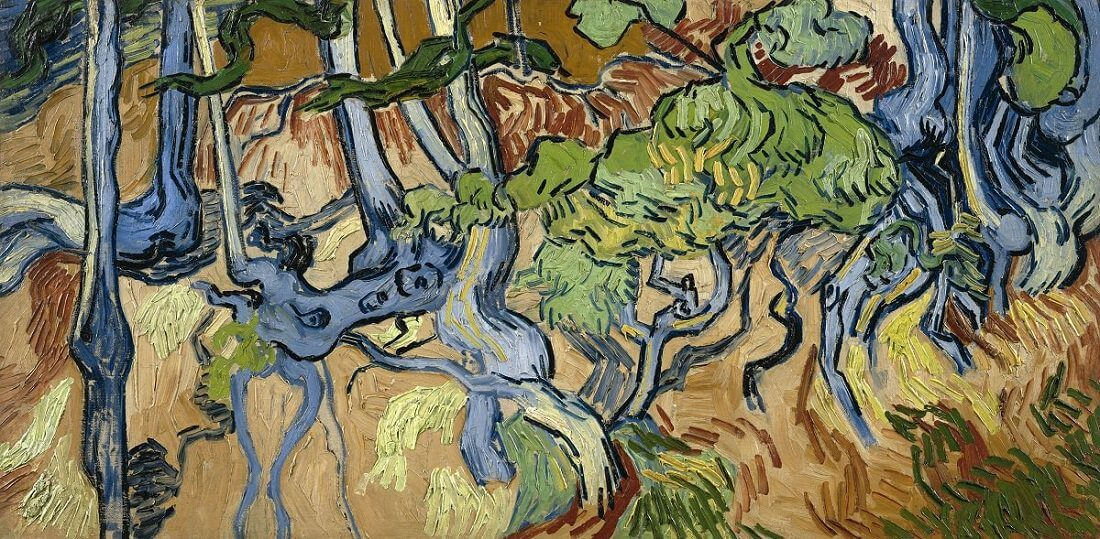 Tree Roots, 1890 by Vincent Van Gogh