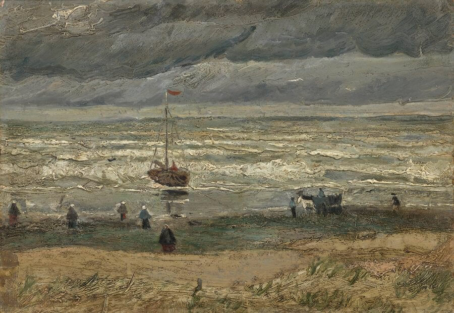 View of the Sea at Scheveningen, 1882 by Vincent Van Gogh