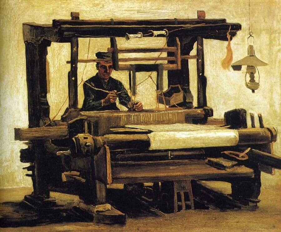 Weaver, 1884 by Vincent Van Gogh