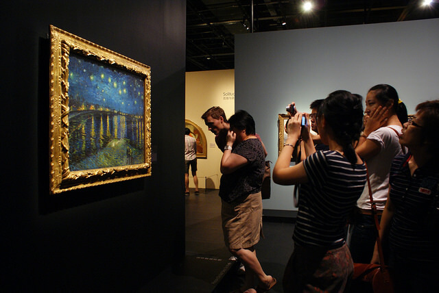 Starry Night Over The Rhone Photo at Musée d'Orsay