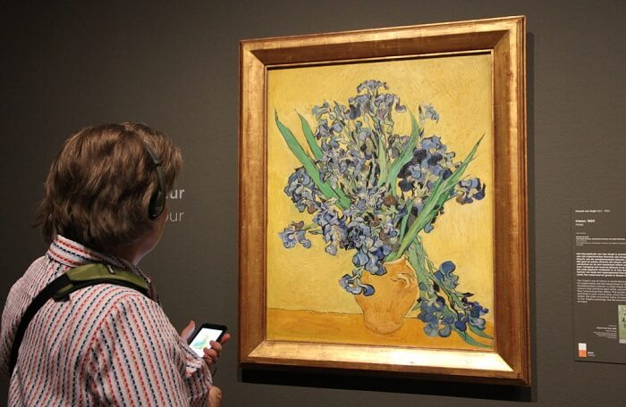 Photo of Still life with Irises by Van Gogh